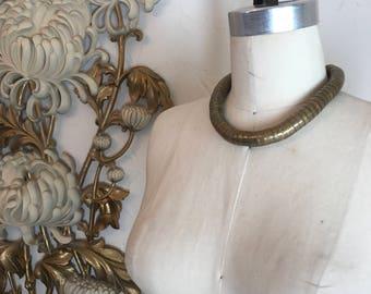 1980s necklace snake necklace brass necklace coil necklace vintage necklace vintage choker ethnic jewelry