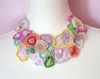 Spring Beauty-  OOAK Neckpiece - Ready to ship xx
