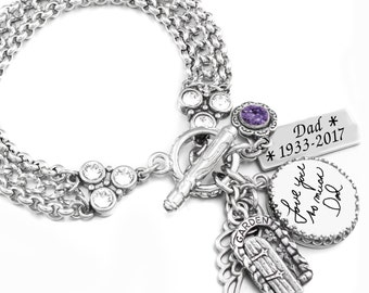 Signature Bracelet, Handwriting Bracelet, Custom Signature Jewelry, Personalized Signature Jewelry, Memorial Handwriting Bracelet