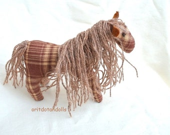 Horse, stuffed horse toy Waldorf education made of natural materials