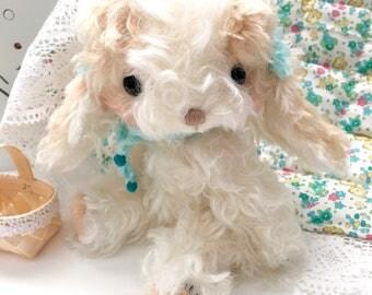 Cavalier Puppy dog -  Artist bear by Jenny Lee of JennyLovesBenny Bears