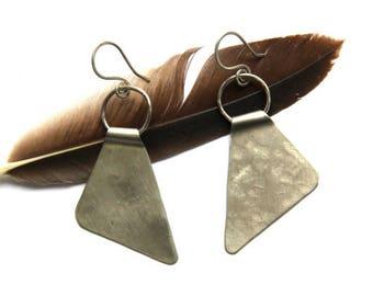 Silver Triangle Earrings (E1261)