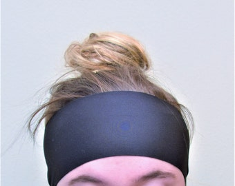 SMALL/MEDIUM Activewear Workout Headband in Black