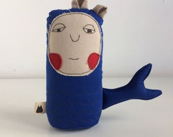 Plush Mermaid, Rag Doll, Plushie Doll, Stuffed Doll, Stuffed Toy, Travel Friend, Table Toy, Red Elk Toy, Imaginary Friend, Decorative Toy