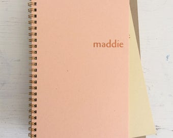 personalized foil pressed notebook set with kraft pages