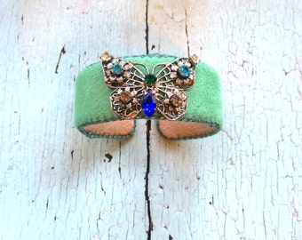 Spring Butterfly Adjustable Cuff