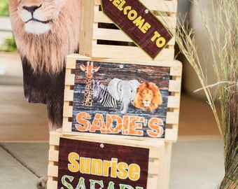 Printable Jungle Safari Signs, Welcome Signs,DIY, African Safari party signs, jungle party,Safari birthday party, Safari party Decorations