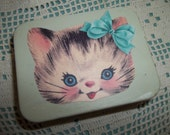 Sweet Little Kitten Tin, Decoupage Mint tin, PIll Box