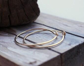 Gold Filled Hoop Earrings - Simple Golden Hoop Earrings