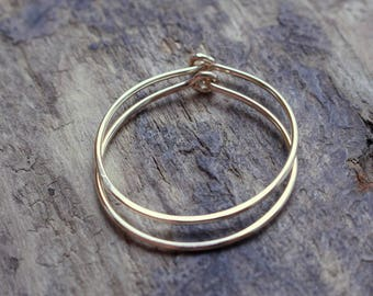 Gold Filled Hoop Earrings - Simple Golden Hoop Earrings