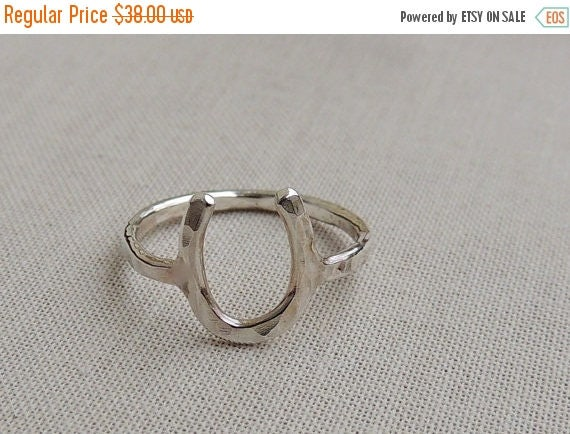 20% OFF Sale Sterling Silver Horseshoe ring midi ring