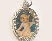 Tiny Charm Valentine's Day Cherub Vintage Image