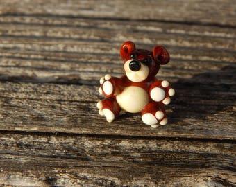 Little Teddy, Lampwork Bead, Simply Lampwork by Nancy Gant, SRA G55