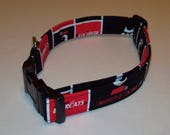 Dog Collar / Adjustable / University Of Cincinnati Bearcats / UC Bearcats /Black Red / Many NFL and College teams available upon request