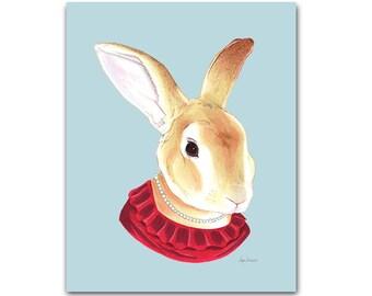 Lady Rabbit print 8x10