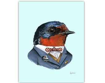 Swallow print 8x10