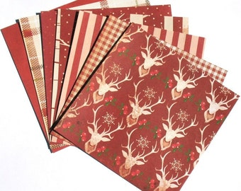 Holiday Red - 6x6 Recollections Sleigh Bells Ring Paper Pack