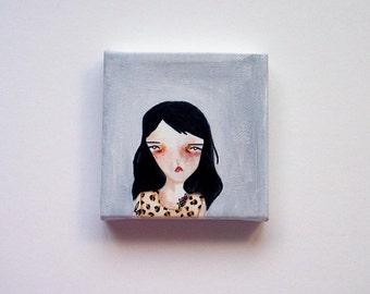 original painting, girl painting, original girl painting, girl art, woman painting, woman art, sense to me