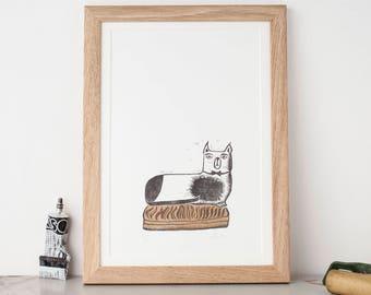 Snooty Cat print