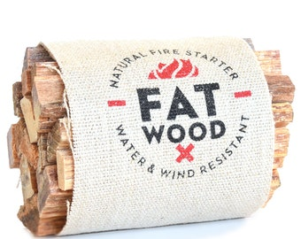 Fatwood Fire Starter Bundle Outdoor Gift for Camping