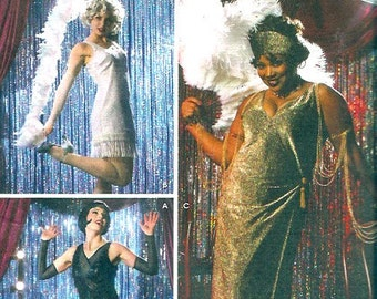 Roaring 20s Flapper costume sewing pattern Simplicity 0652 Sz 6 to 12 Burlesque dancer
