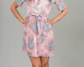 ON SALE Vintage Pink Floral Mini Dress (Size Small/Medium)