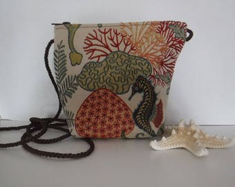 Seahorse Coral Reef Fabric Bag Purse Upholstery