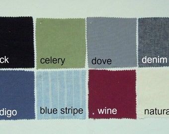Custom Fabric Samples by NikkiDesigns, Hemp, Organic Cotton, Linen, Tencel
