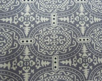 Fabric - Organic Cotton, Grey, Gray,  Amy Butler, Memoir, Home Decor, Sewing, Crafts