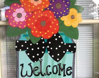 Front door decor, spring door hanger, summer door hanger, spring wreath, summer wreath
