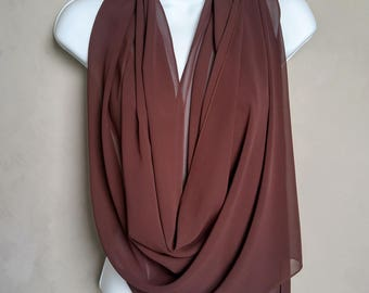 Brown Scarf Wrap