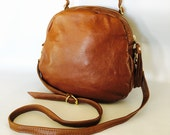 Enoki SS16 leather bag - golden brown