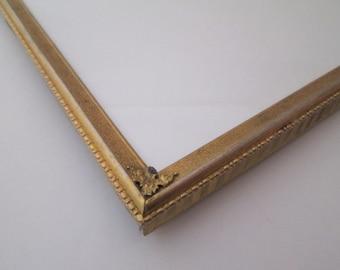 Vintage 10x12 frame, Wedding Frame, Gold Metal Picture Frame, wedding table numbers, 10x12 picture frame, Gatsby Wedding, photo prop