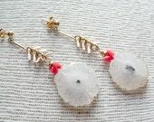 Solar Quartz Boho Dangle Earrings