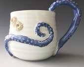 Octopus Tentacle Coffee Mug with Barnacles