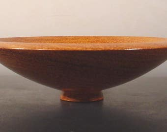 Afzelia Turned Ring Dish Bowl Number 6319 by Bryan Tyler Nelson