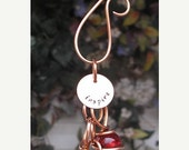 CYBER WEEK SALE Personalized Garden Ornament - Stamped Copper Glass - Window/Garden Art Suncatcher