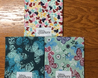 Butterfly Fat Quarter Fabric Set of 3 patterns