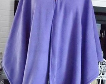Lavender Hooded Cape,Hooded Fleece Capes,Plus Size Hooded Capes,Hooded Cloaks,Ponchos