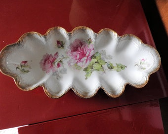 Vintage Relish Tray from Germany, Server Dish, Celery Tray