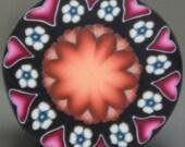 Polymer Clay Circle Cane -'Fresh Start' (45B)