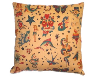 Tattoo Sailor Jerry Throw Pillow Decorative Pillow Home Decor Bedding Cushion
