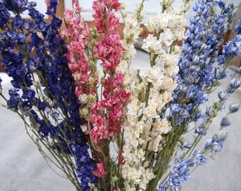 Bulk Larkspur for Table Arrangements or Floral Deco Boho, Rustic, Simple Weddings Home Decor DIY