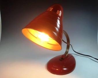 Vintage 50's Red Hot Desk Lamp