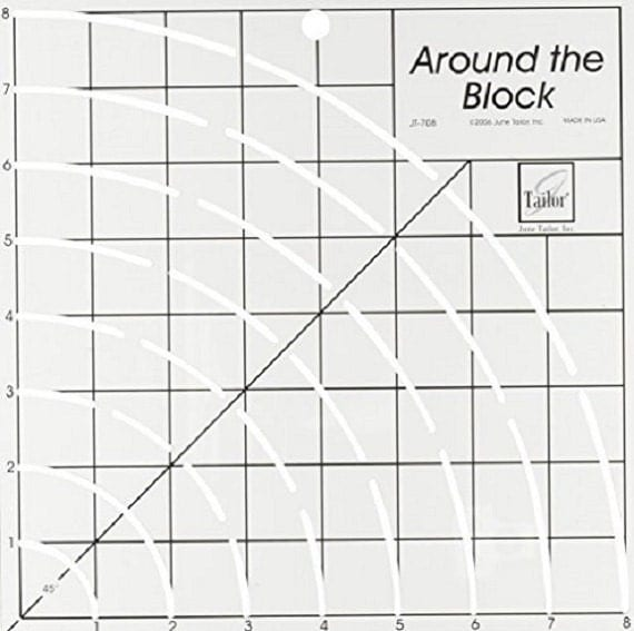 around the block quilting ruler template by june taylor free shipping from suppliesparty on. Black Bedroom Furniture Sets. Home Design Ideas