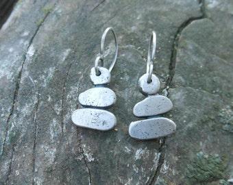 Sterling Silver Cairn Earrings