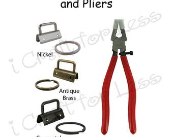 5 Key Fob Hardware with Key Rings and Plier Combo - Plus Instructions - SEE COUPON