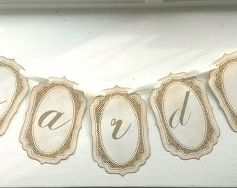Cards Banner, Cards Bunting, Gold Cards Banner, Gold Cards Sign, Gold Glitter Wedding, Gold Glitter Cards, Rustic Wedding Ideas