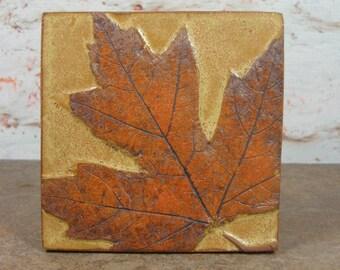 Maple Leaf Tile - 4 Inch