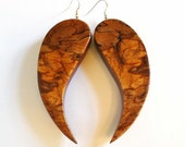 Spalted Stump Wood Earrin...